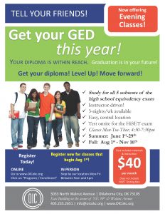 GED Evening Classes Poster