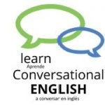 Blue and Green Learn Conversational English logo
