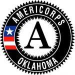 Black and white round logo for AmeriCorps Oklahoma