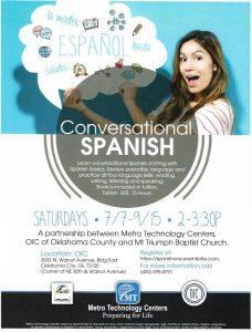 Conversational Spanish Class Flyer