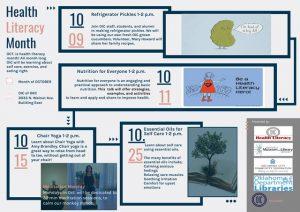 health literacy calendar