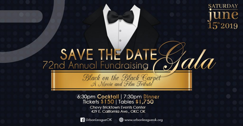 black tie and tails Save the Date card for Urban Lean Annual Fundraising Gala